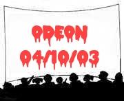 Odeon, Glasgow 04/10/03